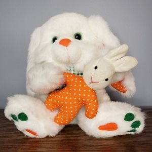 "9"" 1995 Vtg Avon Giggling Mommy and baby bunny"
